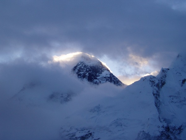 Sunrise Behind Everest